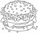 Coloring Printable Hamburger Sandwich Stomach Cheeseburger Vector Sanduiche Grande Tasty Illustrations 30seconds Cheese Apetitoso Gostoso Smakelijk Broodje Groot Growl Mom sketch template