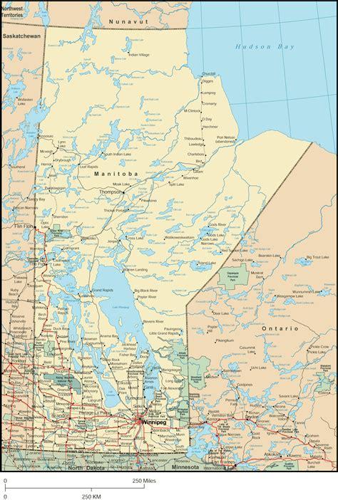 Manitoba Map Province