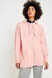 Champion Oversized Pink Zip-Through Hoodie Pink | Bluewater | u00a395.00