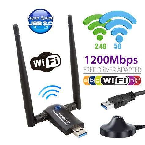 USB WiFi Adapter 1200 Mbps, Wireless WiFi Adapter USB 3.0 ...