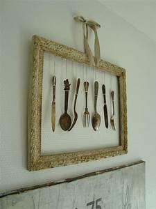 salon cadre fourchettes photo 6 6 salon cadre fourchettes With cadre déco cuisine