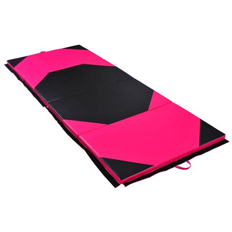 floor mats gymnastics homcom folding yoga mat thick foam gym floor mats exercise