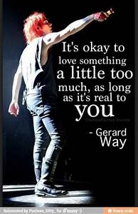 Gerard Way Quotes About Love. QuotesGram