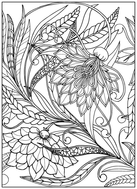 Vintage Flower Coloring Pages on Behance