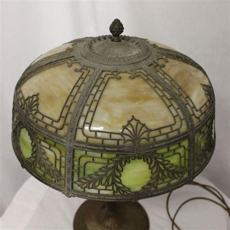 bargain johns antiques antique slag glass  metal