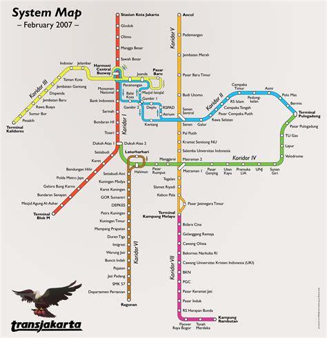 jakarta bus system map jakarta mappery