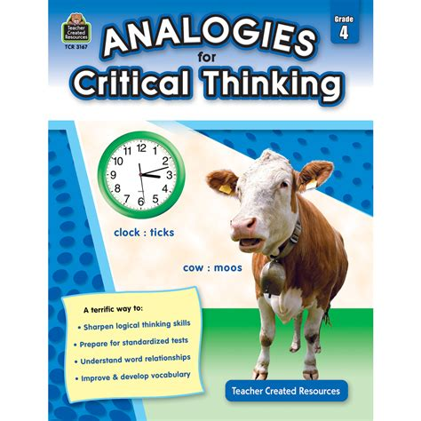 Analogies For Critical Thinking Grade 4  Tcr3167  Teacher Created Resources