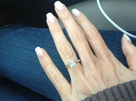 cushion cut engagement rings post yours 171 weddingbee