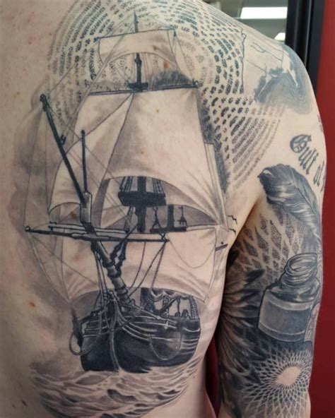 Ship Tattoo by 50 Amazing Ship Tattoos You Won T Believe Are Real