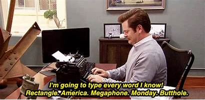 Swanson Ron Typing Every Word Gifrific Know