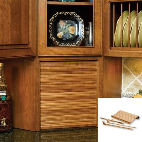 material of kitchen cabinets omega national products 15 inch wide tambour door kit 7400