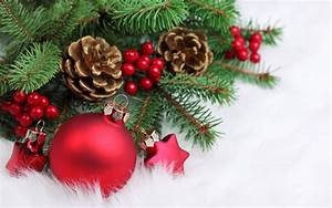Red, Christmas, Decorations, -, Christmas, Wallpaper, 22228018