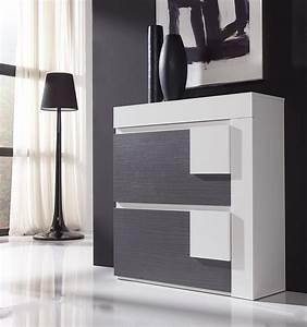 Meuble Blanc Et Gris : meuble a chaussures sofia zd1 mac mod ~ Dailycaller-alerts.com Idées de Décoration