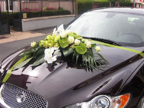 deco voiture mariage fleur langlet fleurs d 233 coration de voiture provins 77