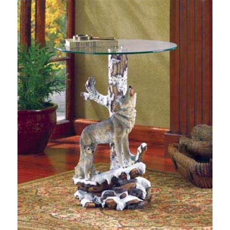wolf table with glass table top wolf table with glass tabletop