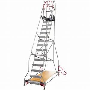 Escabeau 10 Marches : escabeau roulant 10 marches alu 200 kg ~ Melissatoandfro.com Idées de Décoration