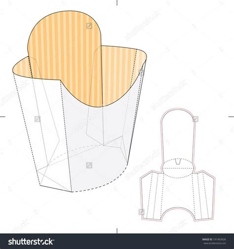 Fries Packaging Template by 17 Best Images About Die Cut Templates On