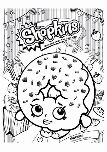 Coloring Pages Shopkins Donut Donuts Shopkin Printable