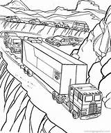 Coloring Pages Truck Holding Cliff Coloringpagesfun sketch template