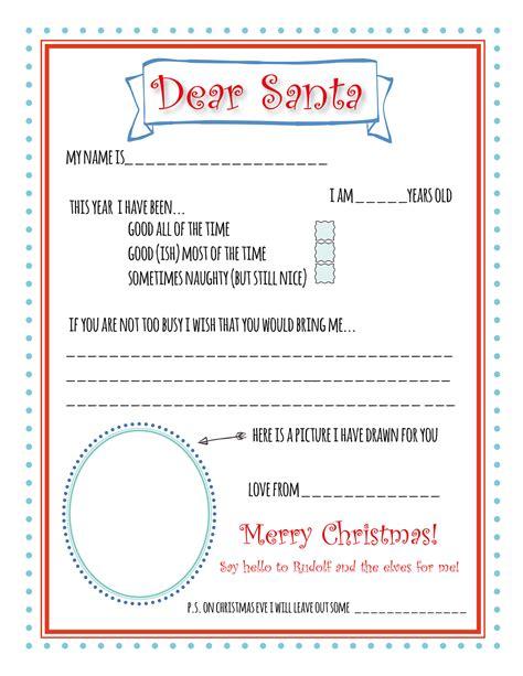 santa letter template santa letter printable template bunny peculiar