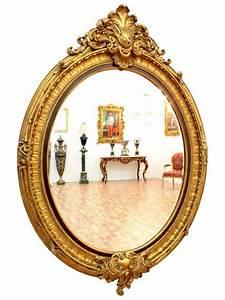 Miroir Baroque Doré : miroir style rococo ~ Teatrodelosmanantiales.com Idées de Décoration