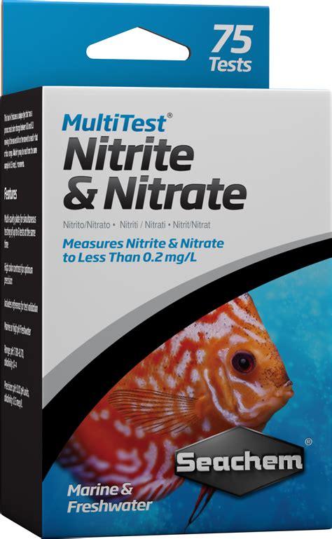 nitrate aquarium eau de mer seachem multitest nitrite nitrate pour le test pr 233 cis du taux de nitrite et nitrate en