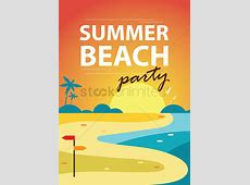 Summer beach party poster design Vector Image 1974559