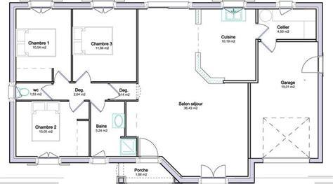 Plan De Maison Plain Pied Gratuit 3 Chambres Plans Maisons
