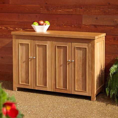 Teak Outdoor Kitchen Cabinets   Signature Hardware