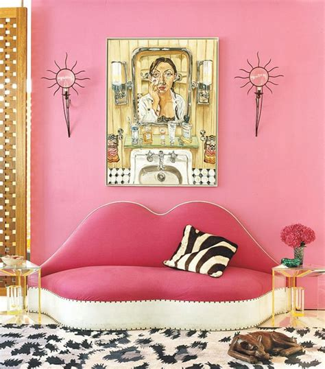 dusty pink wall paint pink and black room with