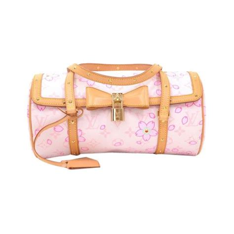 pre owned louis vuitton cherry blossom papillon white