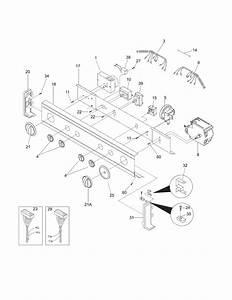 Control Panel Diagram  U0026 Parts List For Model Glet1031fs2