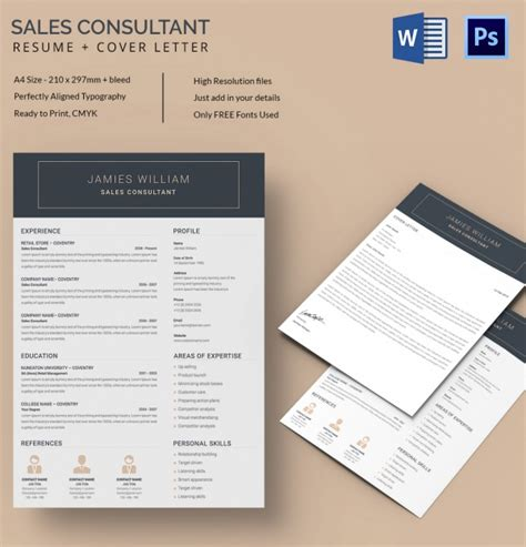 51 creative resume templates free psd eps format