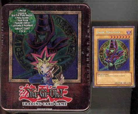 upper deck yu gi oh 2003 holiday dark magician tin da