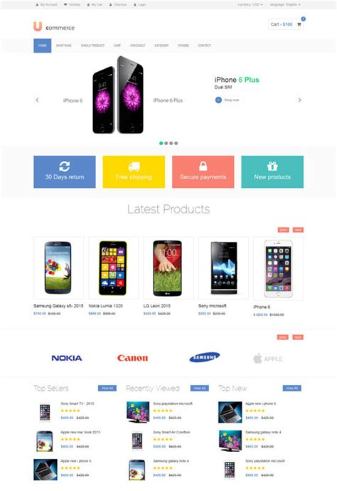 Free Ecommerce Template by 70 Best Ecommerce Website Templates Free Premium