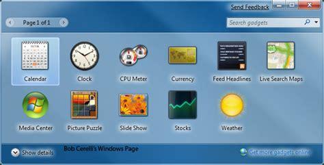 gadgets bureau windows 7 windows7 gadgets