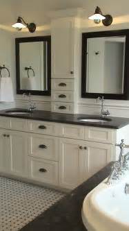 bathroom cabinets ideas designs storage between the sinks and nothing on the counter home ideas i