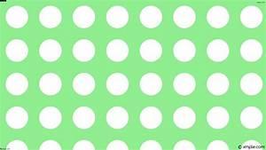Wallpaper dots white spots polka green #90ee90 #ffffff 135 ...