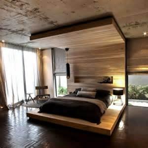 schlafzimmer holz modern himmelbett aus holz die spektakulärsten ideen