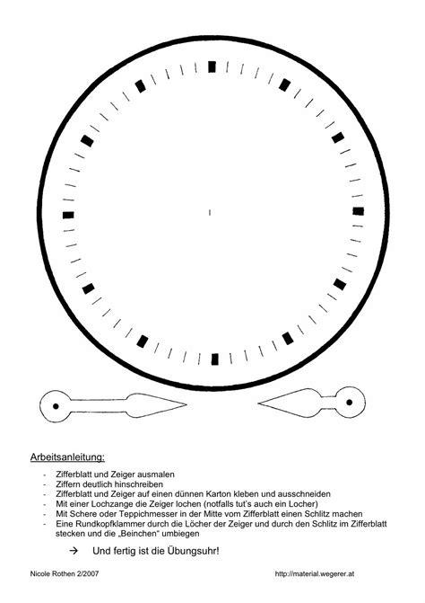 Uhr Zum Basteln Zappelkiste Die Uhr