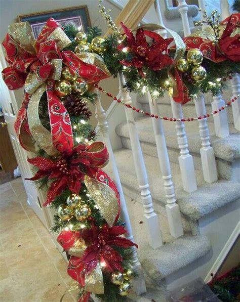 stairway garland very elegant staircase garland seasonal decor pinterest