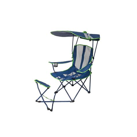 kelsyus original canopy chair bjs kelsyus navy lime original canopy chair with ottoman 80346