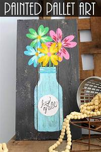 Painted, Pallet, Mason, Jar, Art, In, 2020, With, Images