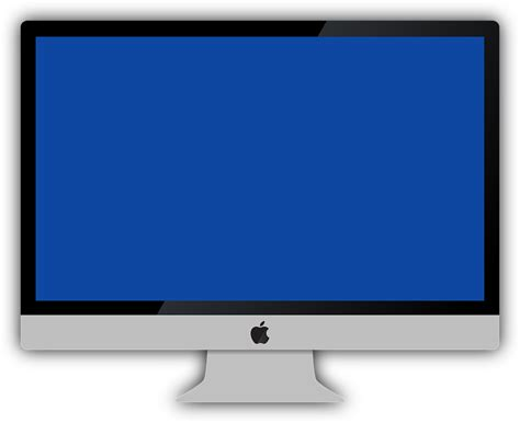 apple ordinateur bureau image vectorielle gratuite imac mac apple bleu