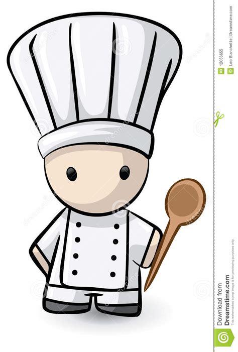 dessin animé de cuisine chef de dessin animé avec la cuillère en bois photo libre