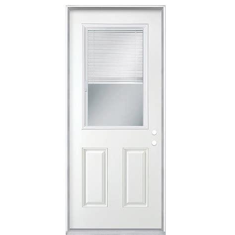 mini blinds for doors masonite 32 in x 80 in premium half lite mini blind 9170