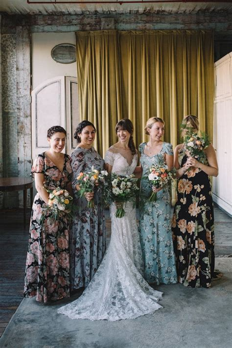 Floral Bridesmaid Dresses Are The Latest Trend In Wedding
