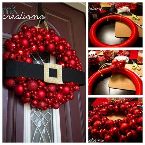 diy santa ornament wreath tutorial pictures