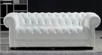 Canape Convertible Chesterfield Blanc by Photos Canap 233 Chesterfield Convertible Cuir Blanc