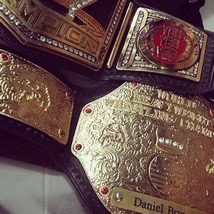 Pic: New Daniel Bryan side plates on the WWE title ...